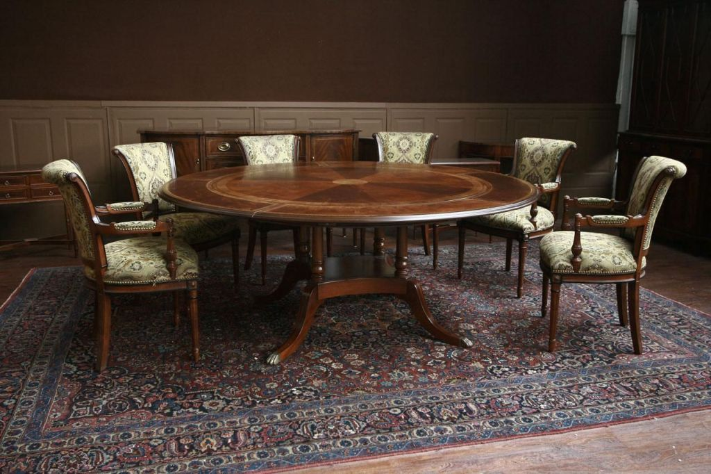 Image of: 60 Inch Round Dining Table Sets