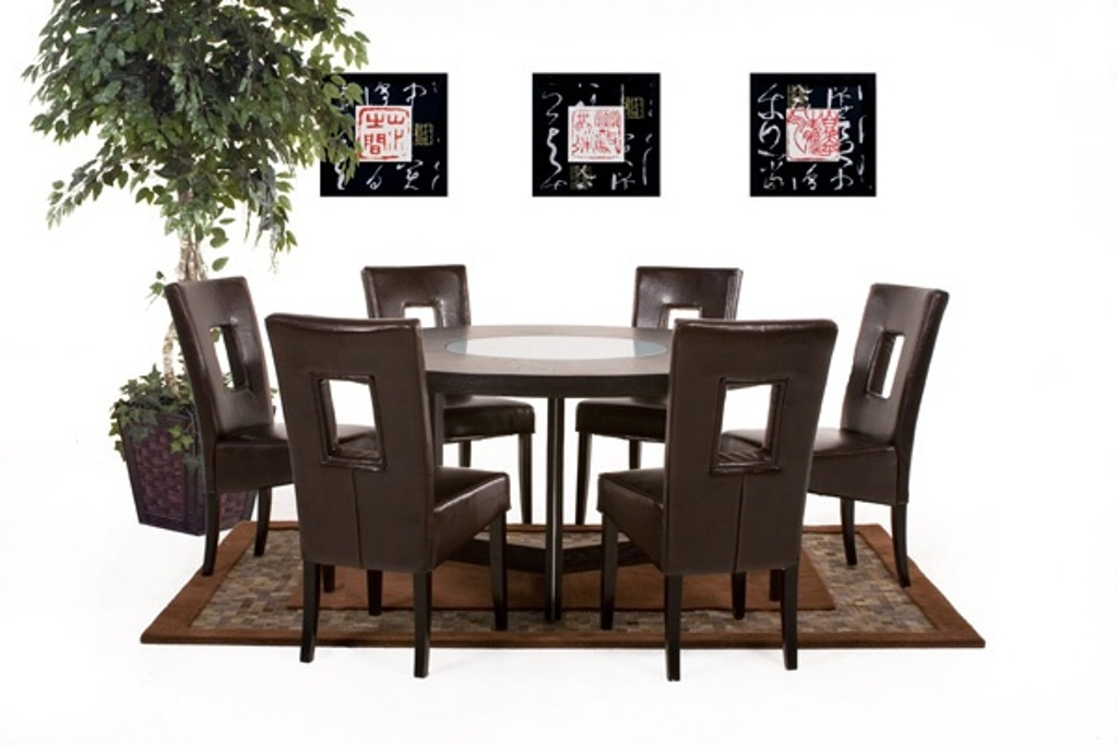 Image of: 60 Inch Round Dining Table With 6 Chairs