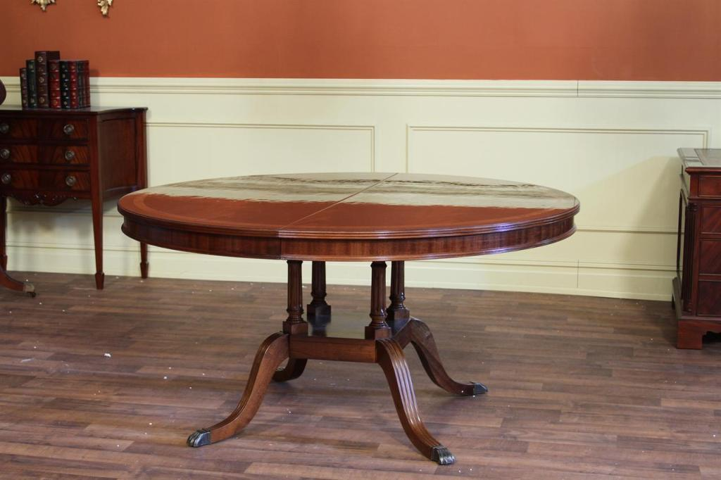 Image of: 60 Inch Round Dining Table With Extension