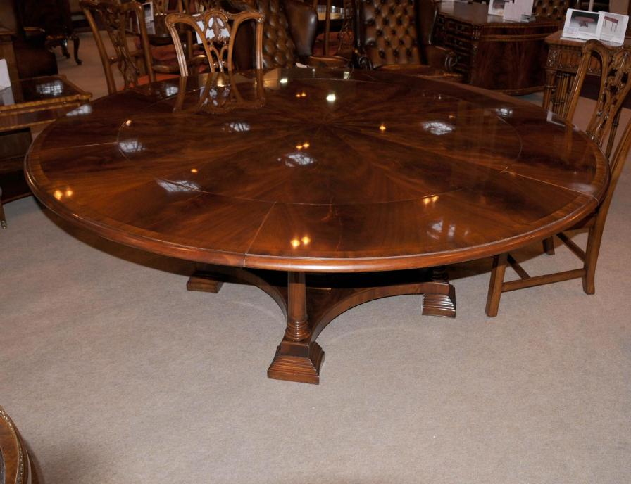 Picture of: Amazing expandable round dining table