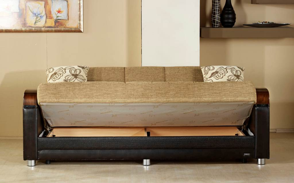 Picture of: Anatolia Convertible Futon Sofa Bed With Storage