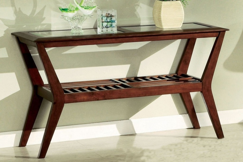 Image of: Antique Cherry Sofa Table