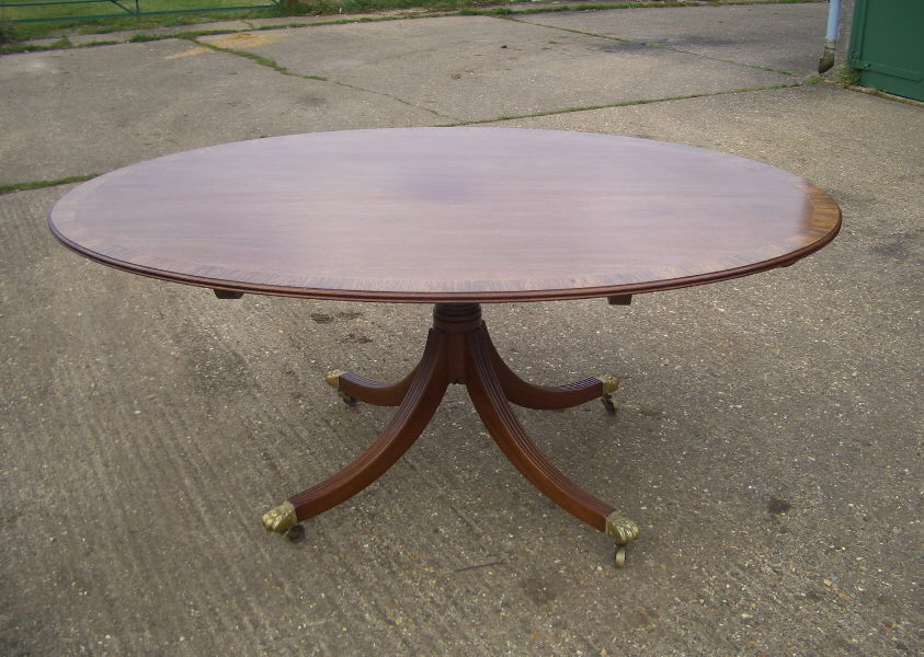 Picture of: Antique Oval Pedestal Dining Table