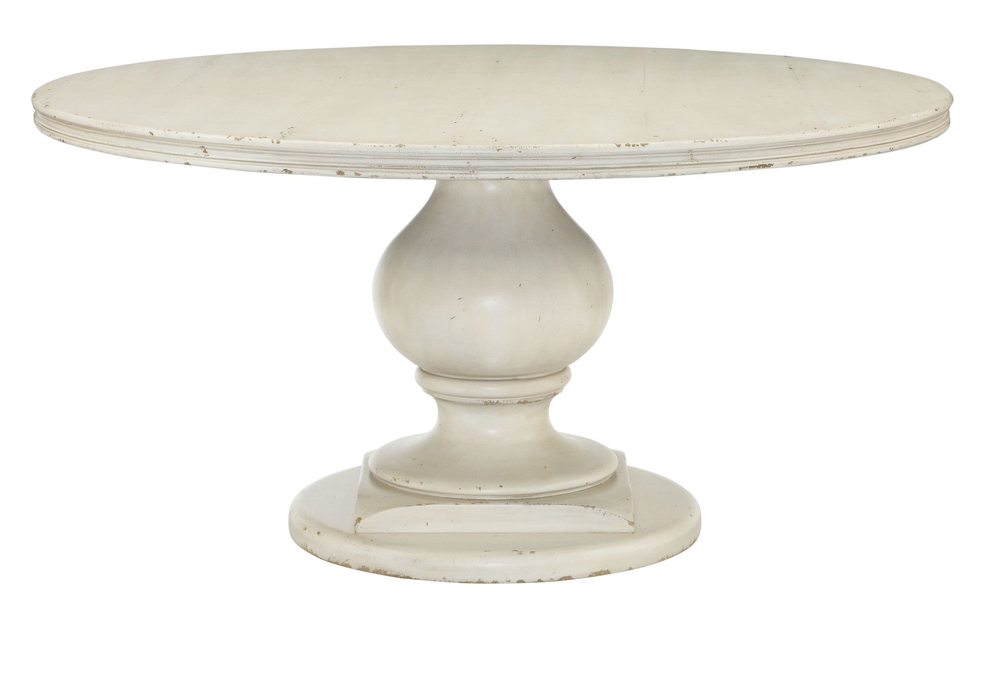 Image of: Antique White Pedestal Dining Table