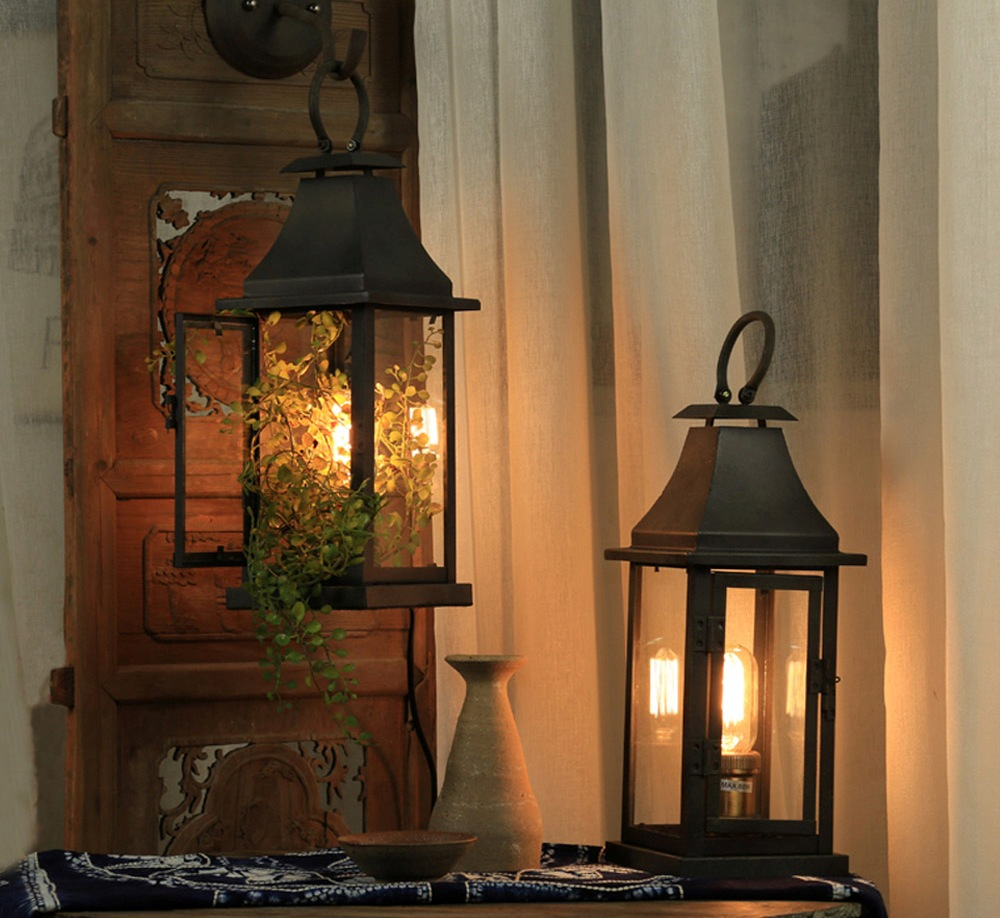 Picture of: Antique Wrought Iron Table Lamps