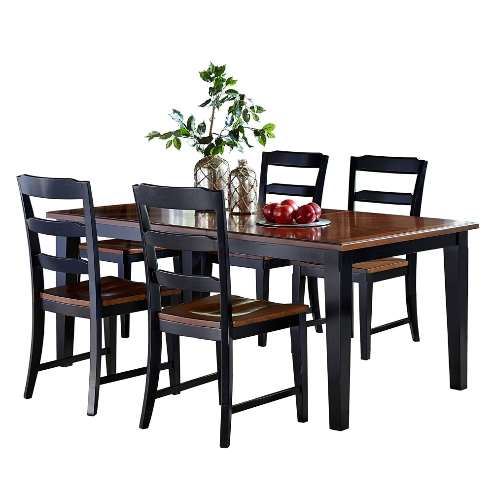 Picture of: Avalon Wood Round Dining Table with Leaves