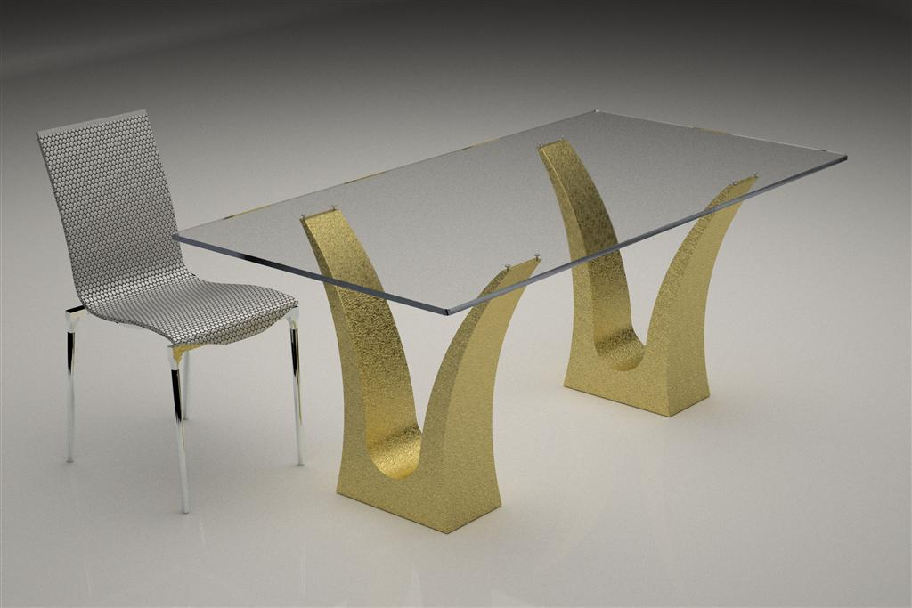 Image of: Base Glass Table Base Ideas