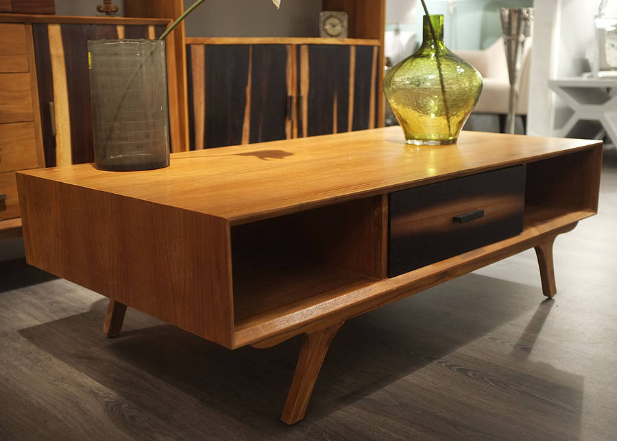Image of: beautiful teak coffee table
