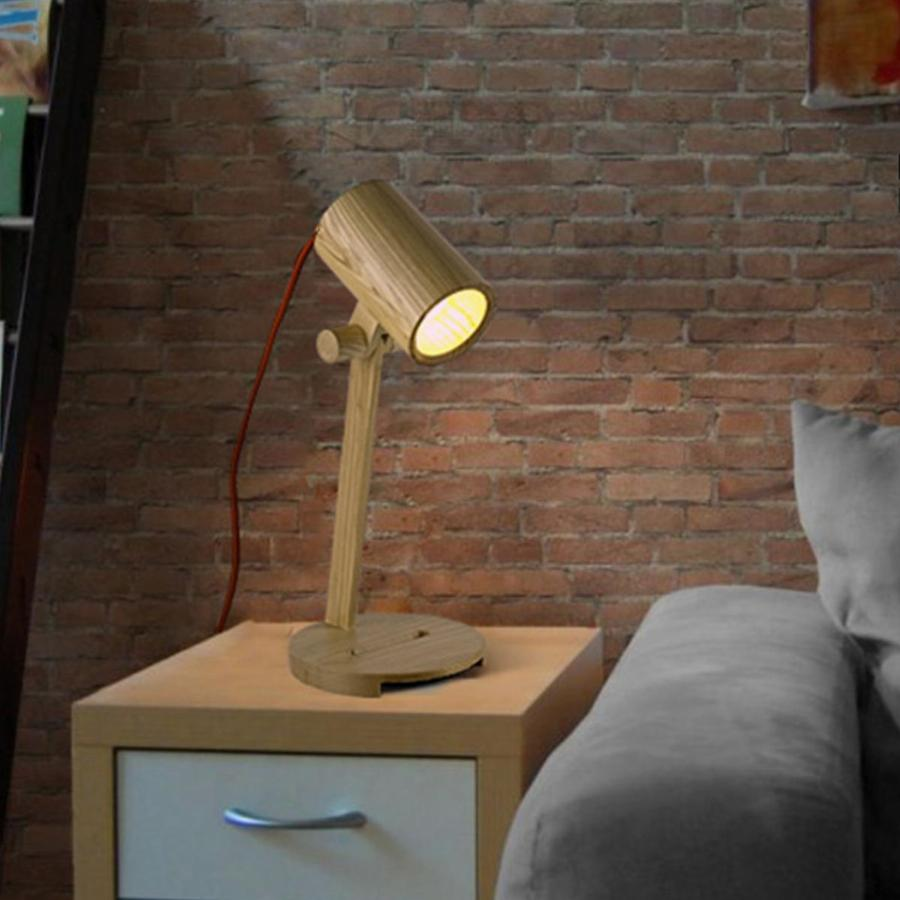 Image of: Beautiful Wood Table Lamp