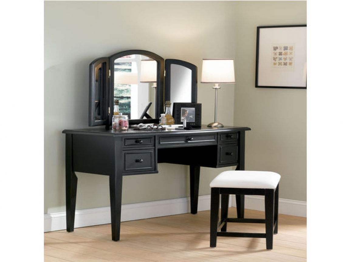 Image of: Bedroom Vanity Sets Black