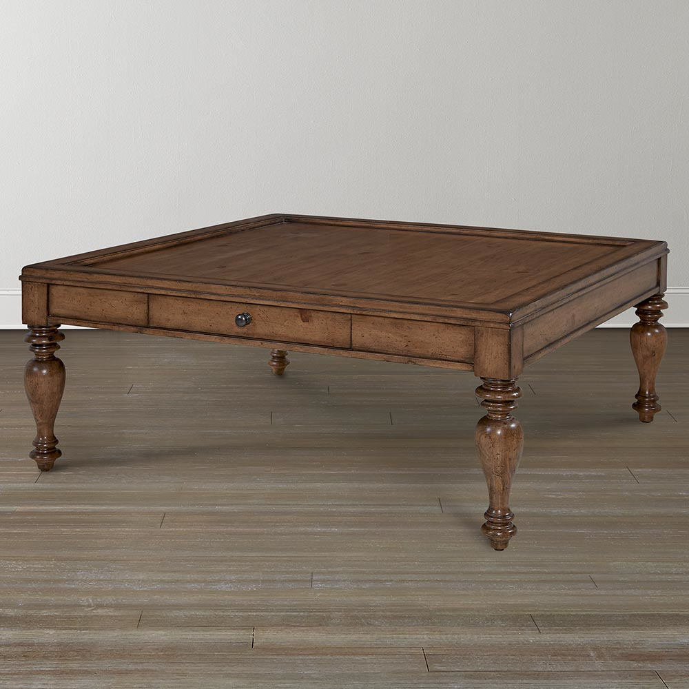 Image of: Big Square Coffee Table Wood