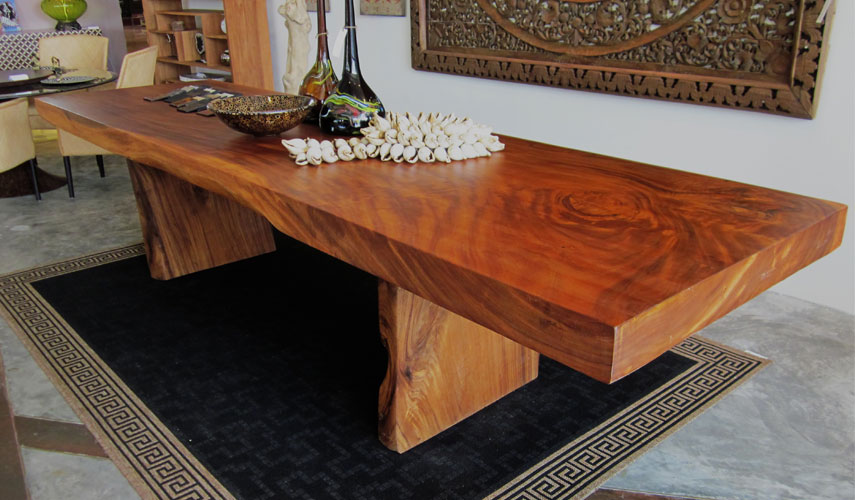 Image of: Big Wood Slab Tables
