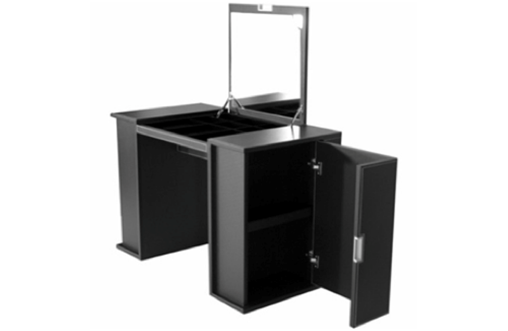Image of: Black Contemporary Vanity Table
