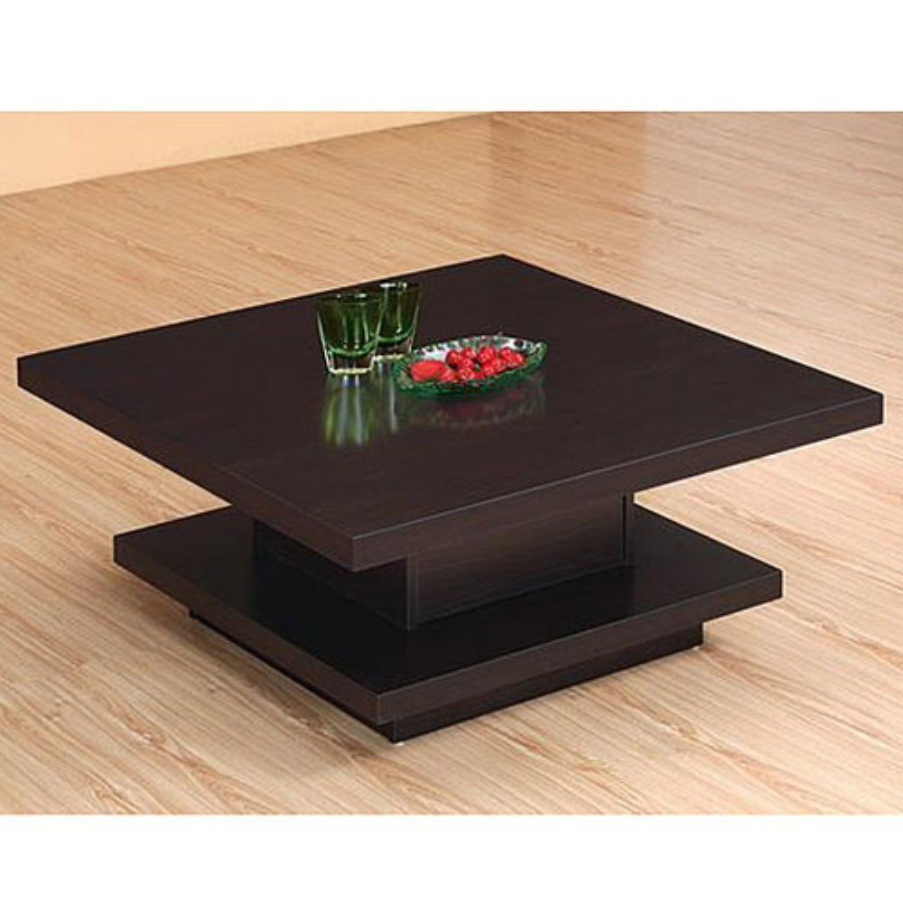 Image of: Black Large Square Coffee Table