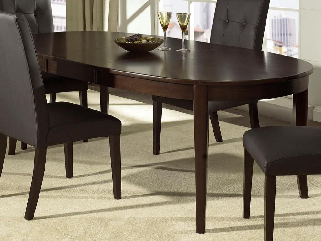 Image of: Black Oval Dining Table with Leaf