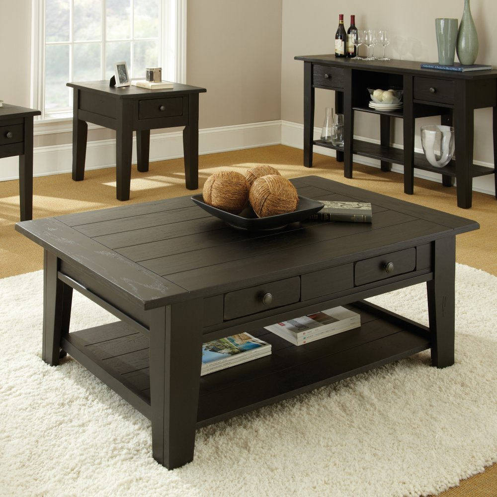 Image of: Black Square Coffee Table Wood