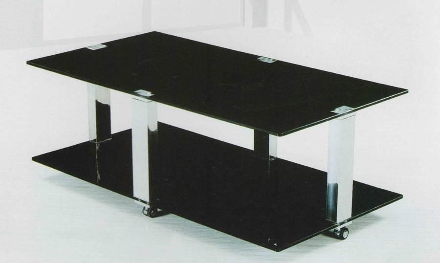 Image of: Black Tempered Glass Coffee Table