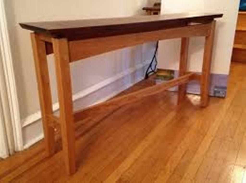 Picture of: Brown Cherry Sofa Table