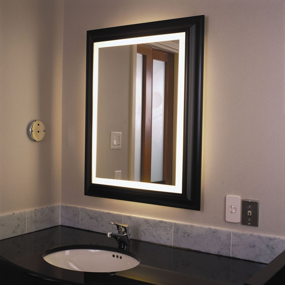 Image of: Brushed Bathroom Vanity Mirrors