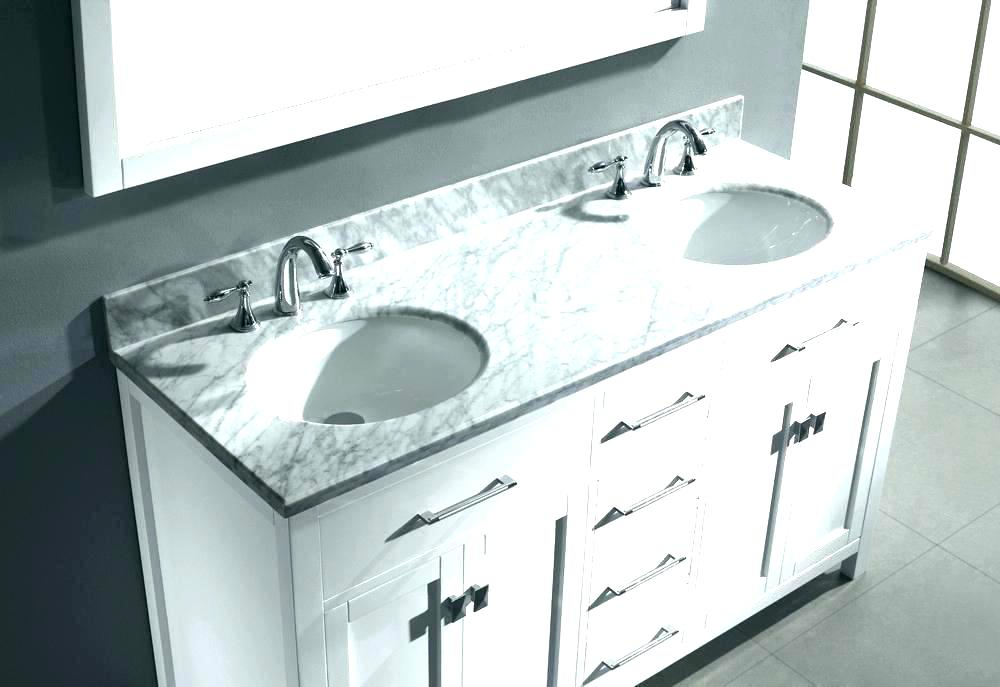 Image of: Carrara Marble Double Sink Vanity Top