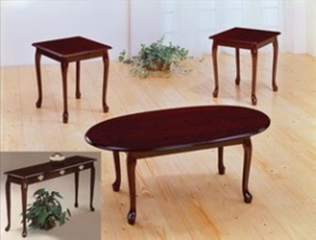 Image of: Cherry Sofa Table and Chair