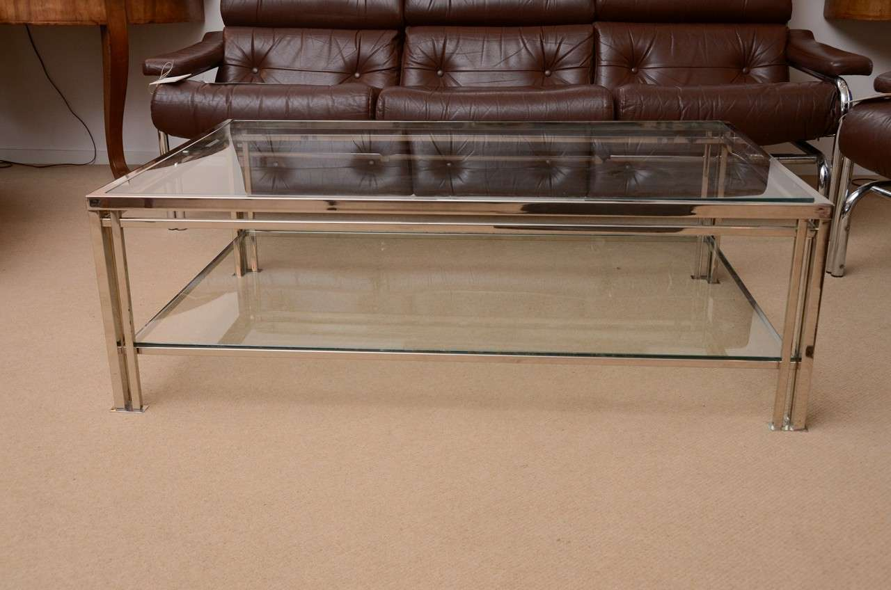 Picture of: Chrome and Glass Coffee Table Ideas