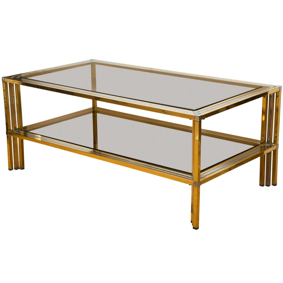 Picture of: Chrome and Glass Coffee Table Style