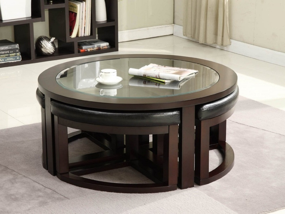 Image of: Circular Coffee Table Designs