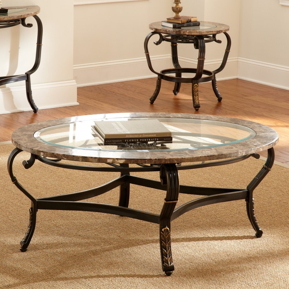Image of: Circular Coffee Table Glass Top