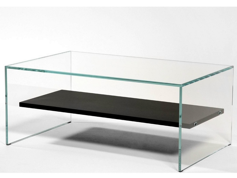 Picture of: Classic Tempered Glass Coffee Table