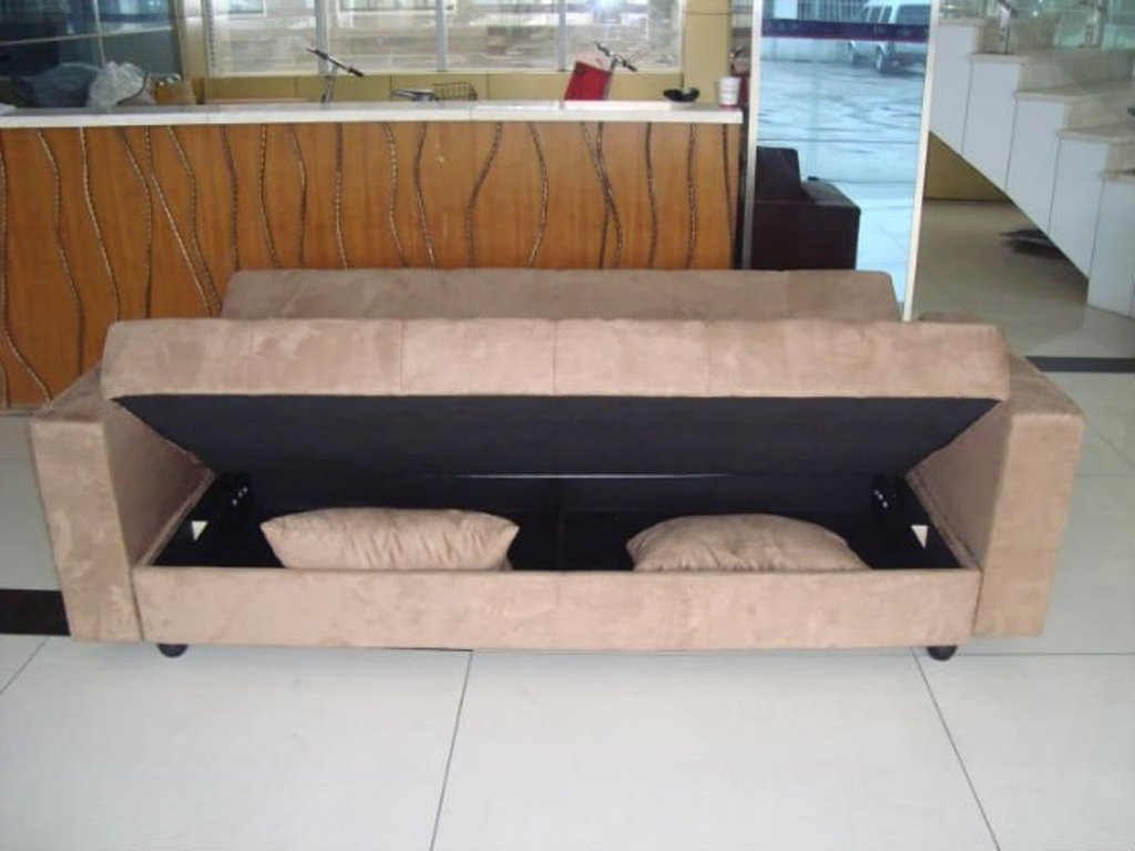 Picture of: Click Clack Futon Sofa Bed With Storage