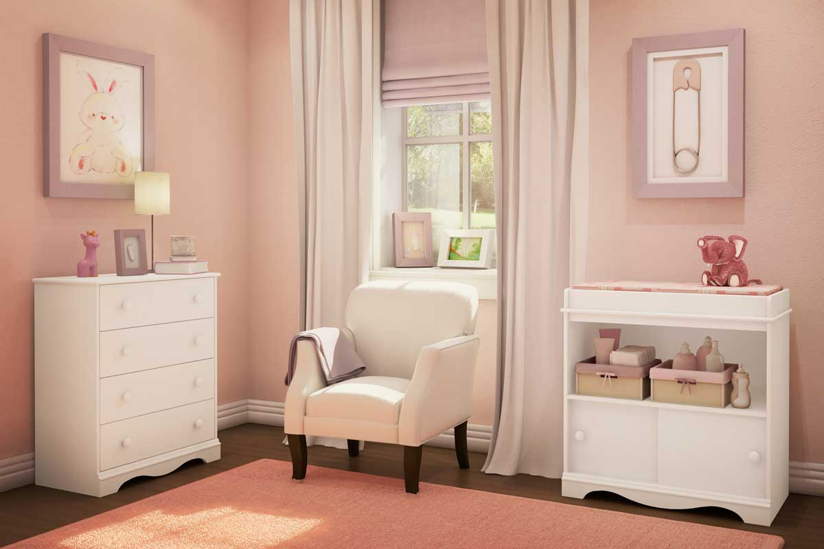 Picture of: Color Baby Crib and Changing Table