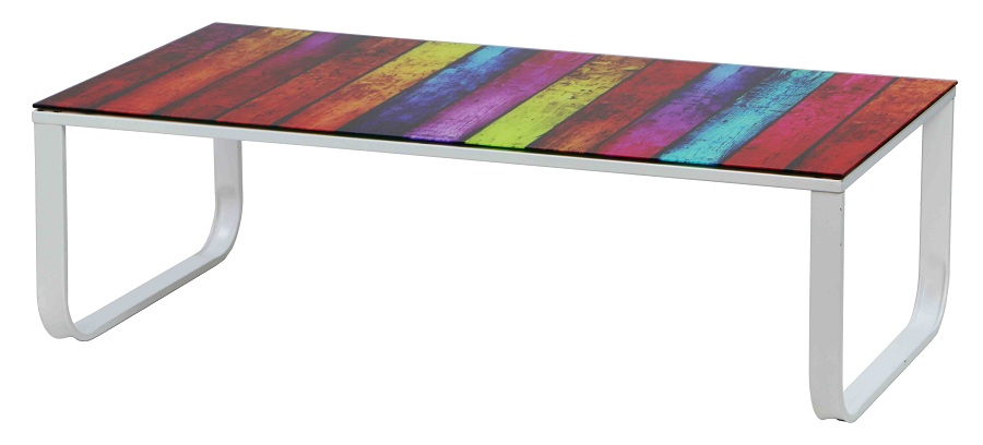 Image of: Color Tempered Glass Coffee Table
