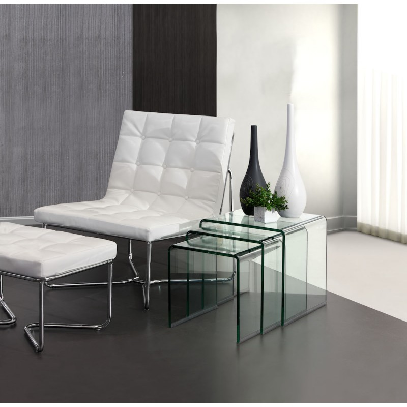 Picture of: Contemporary Glass Nesting Tables