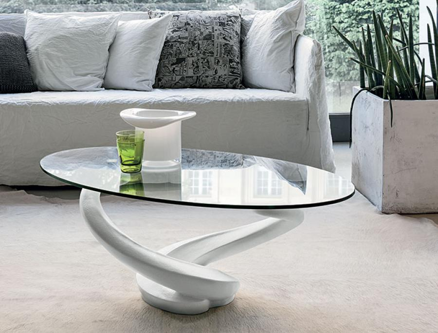 Image of: Contemporary Oval Glass Coffee Table