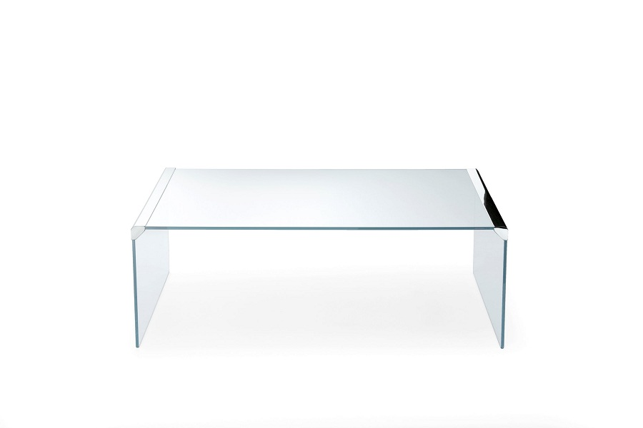 Contemporary Tempered Glass Coffee Table