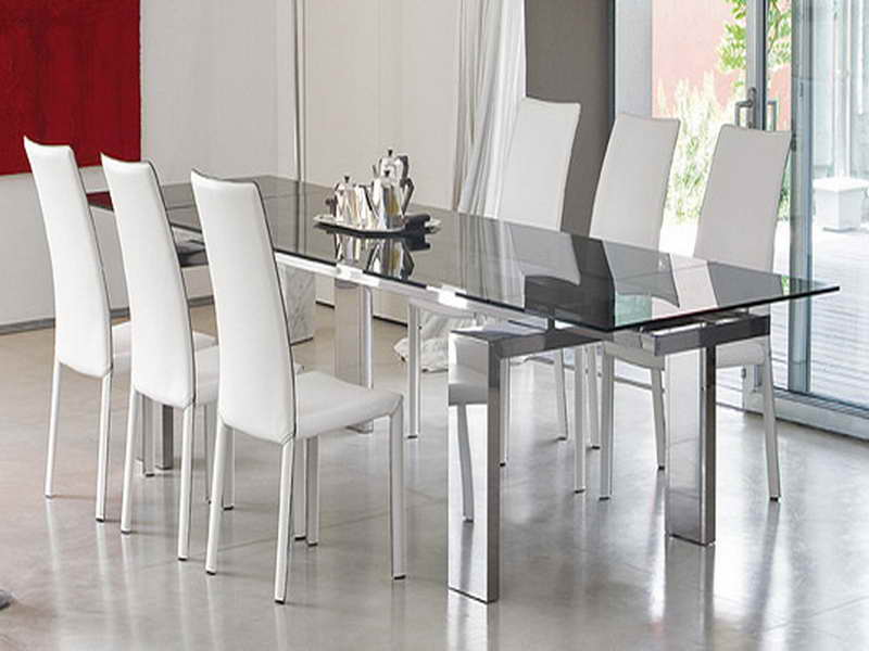 Picture of: Contemporary glass dining room table sets