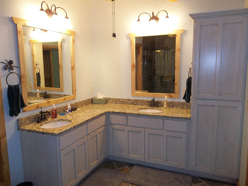 Image of: Corner 72 Bathroom Vanity Double Sink