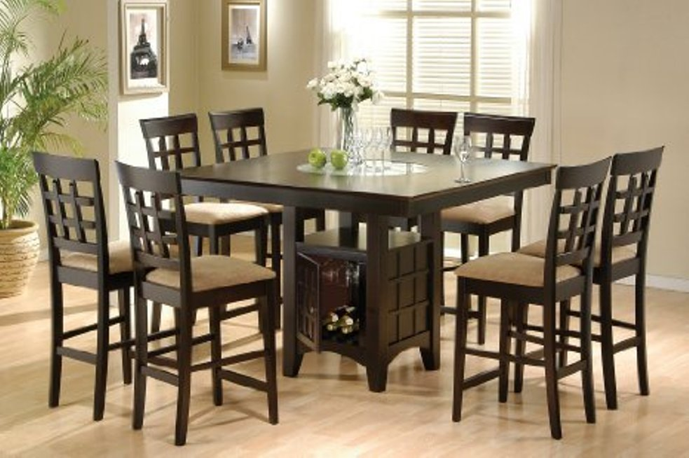 Image of: Counter height dining table set 5 piece