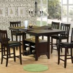 Counter Height Dining Table Set 9 Piece