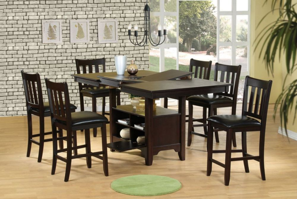 Image of: Counter height dining table set 9 piece