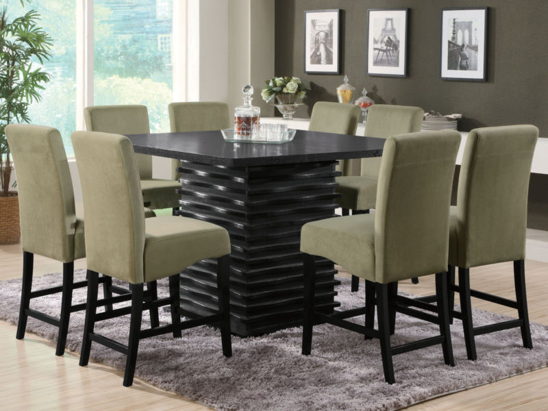 Image of: Counter height dining table set Costco