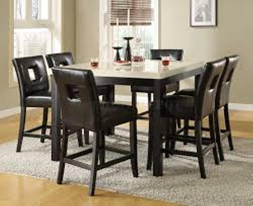 Image of: Counter height dining table set with butterfly leaf