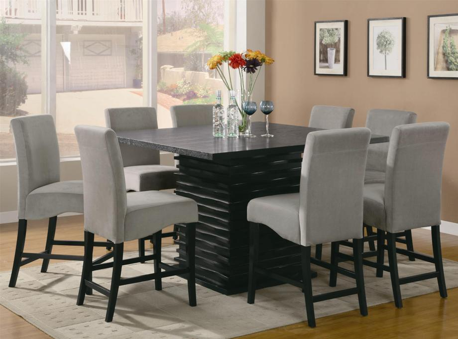 Image of: Counter height dining table set