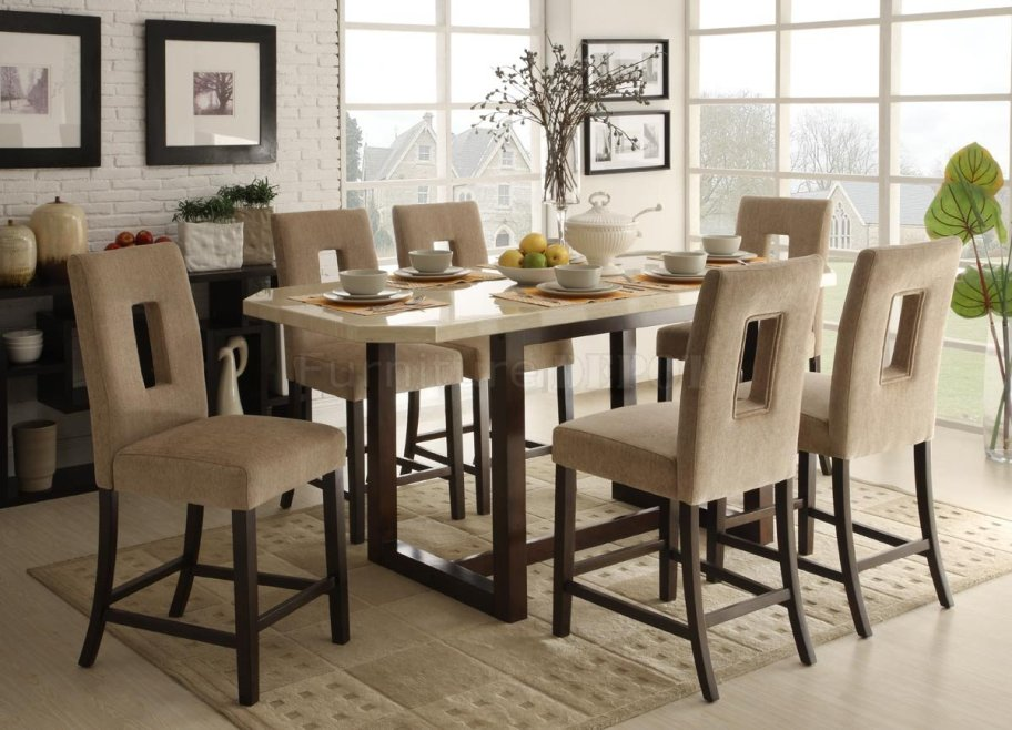 Image of: Counter height dining table sets on sale