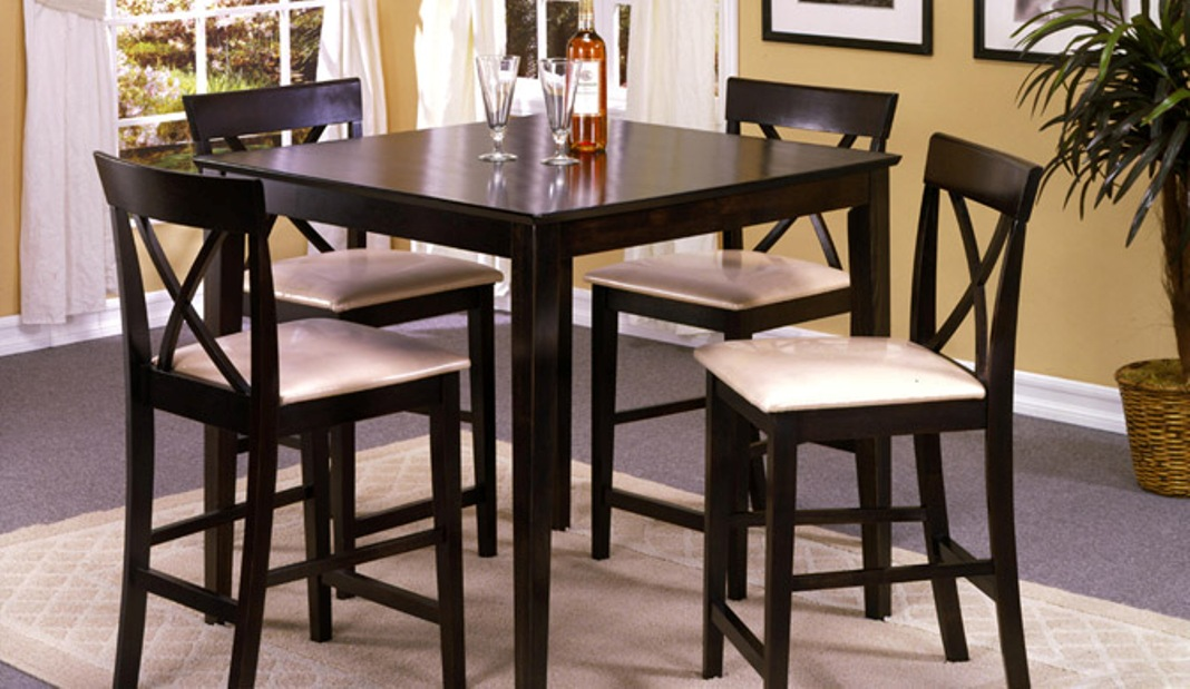 Image of: Counter height dining table sets with bench