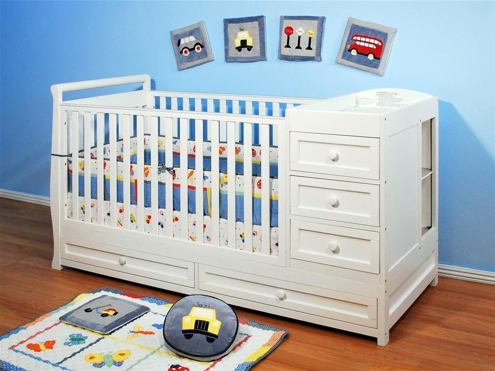 Picture of: Cozy Baby Crib and Changing Table