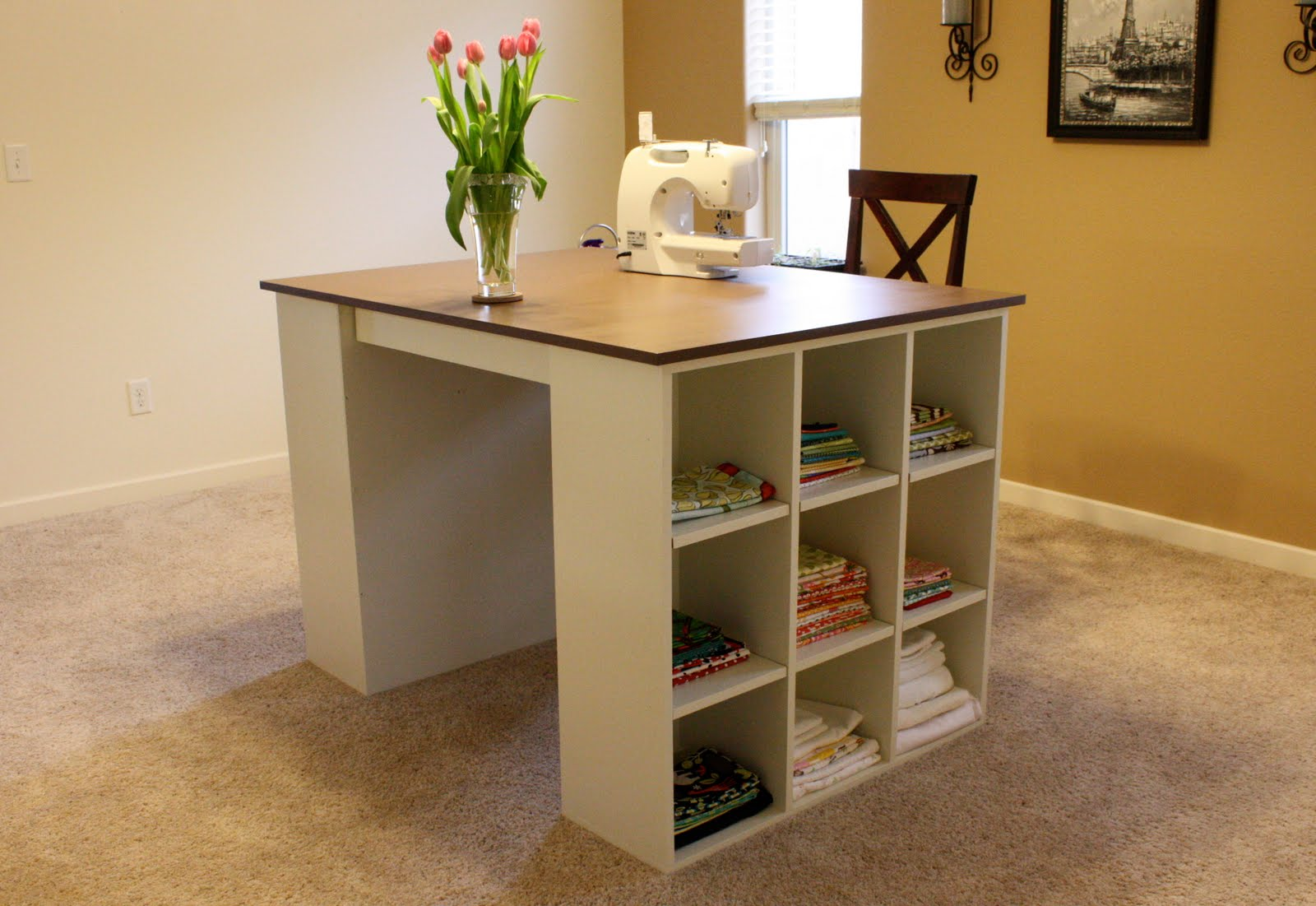 Picture of: Craft Table with Storage Minimalist