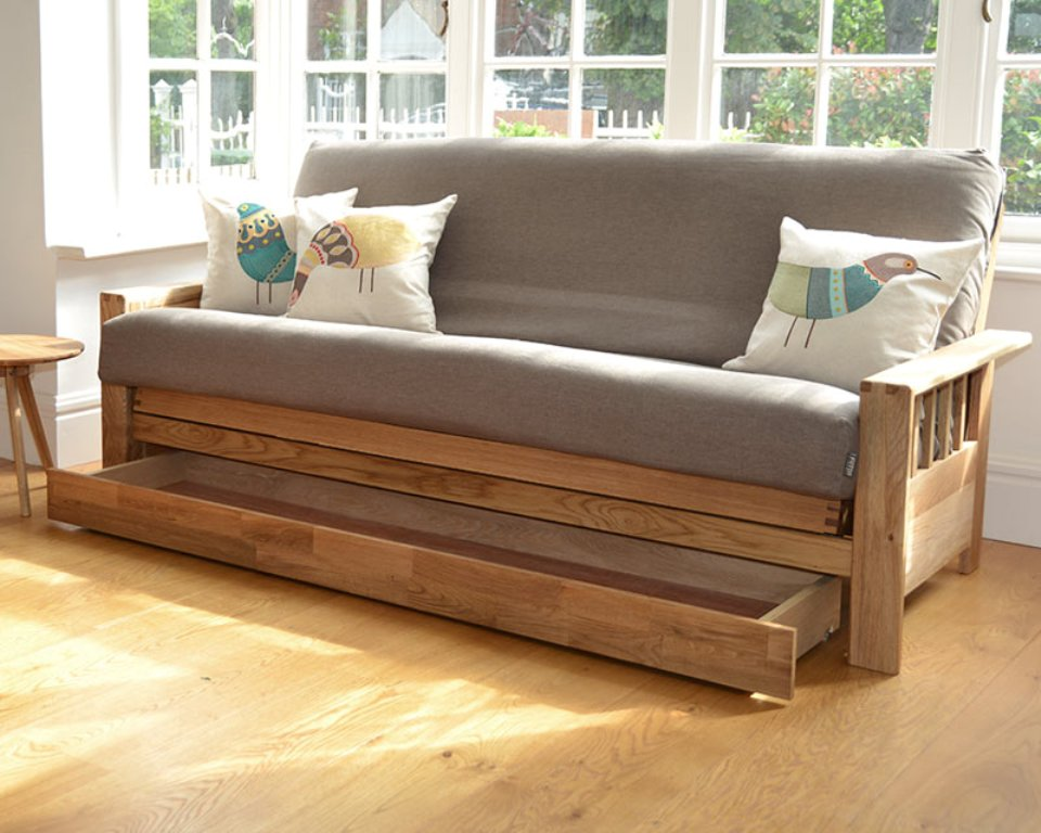Image of: Crawford Futon Sofa Bed With Storage