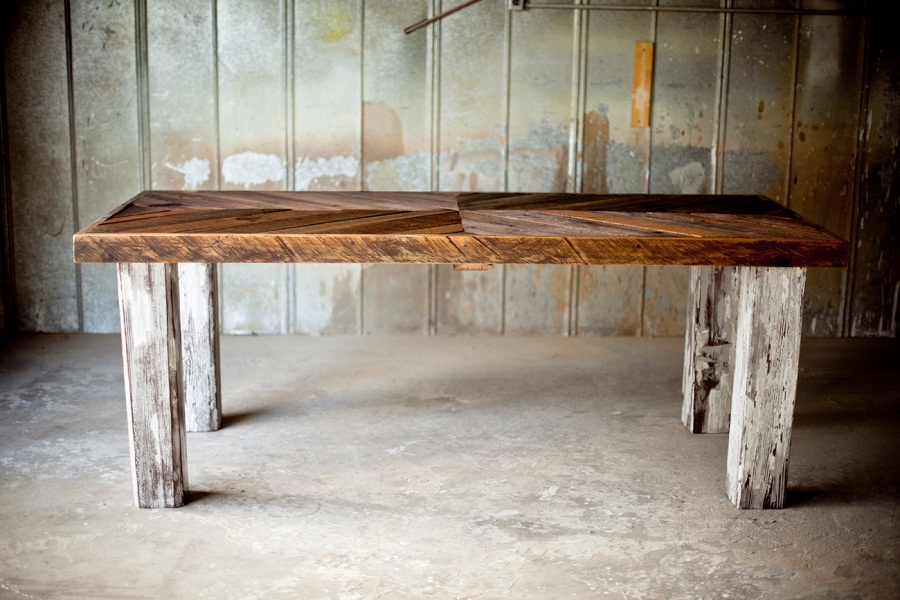 Picture of: custom reclaimed wood farm table